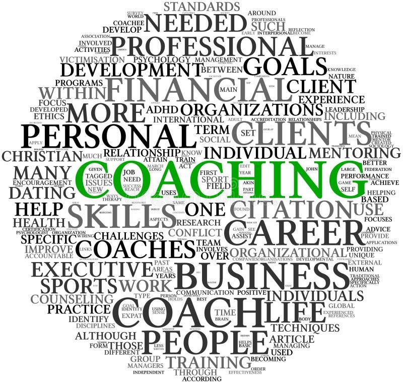 覆盖教练概念标签 向量例证