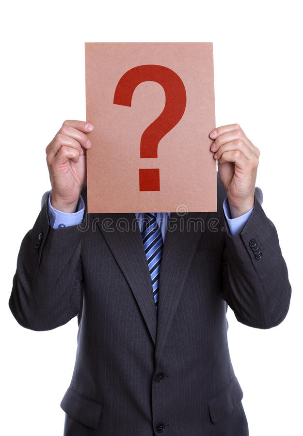 覆盖物表面他的人标记问题符号 免版税库存照片