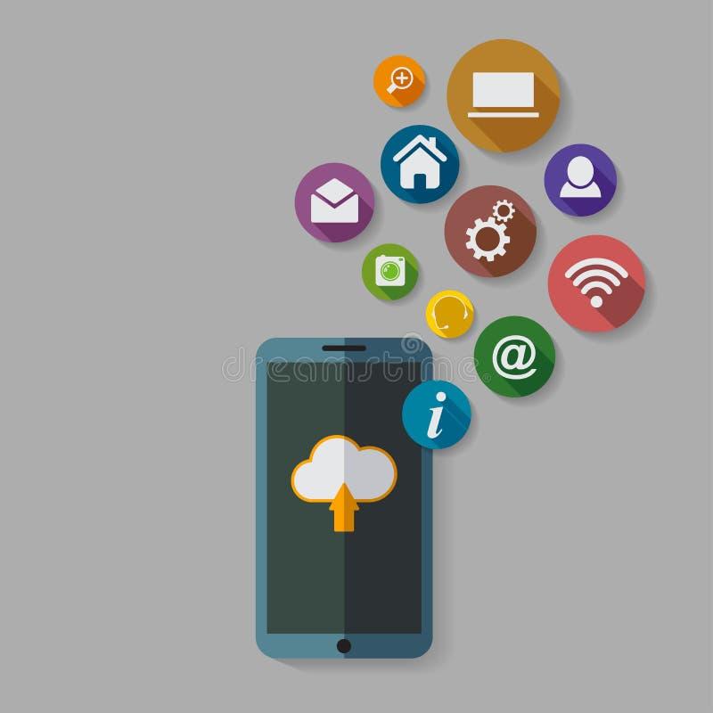 覆盖计算的存贮和应用在一个手机 皇族释放例证
