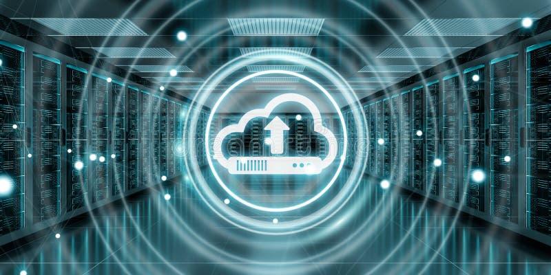 覆盖象下载数据在服务器屋子中心3D翻译里 向量例证