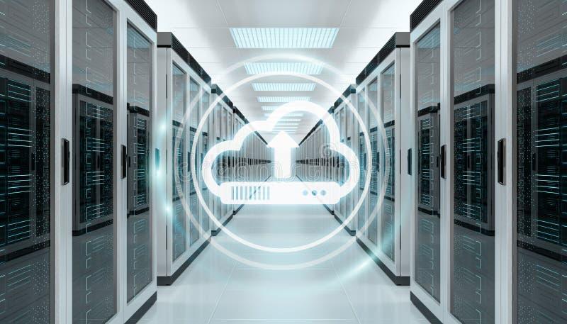 覆盖象下载数据在服务器屋子中心3D翻译里 皇族释放例证