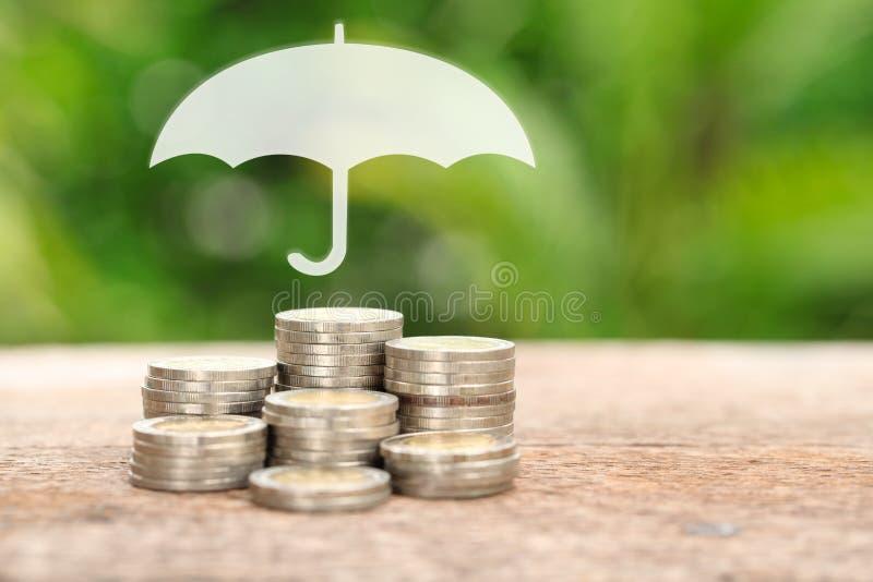 覆盖面、保险或者保护概念、c堆和堆  免版税库存图片