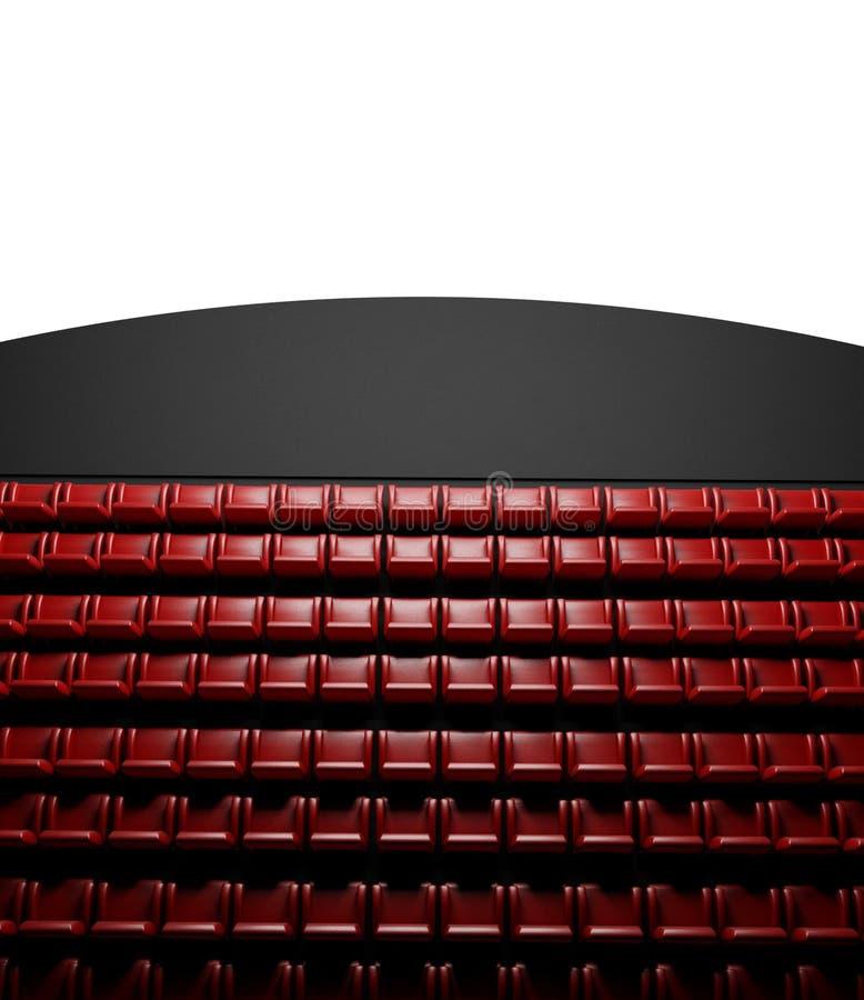 观众席戏院空的屏幕 向量例证