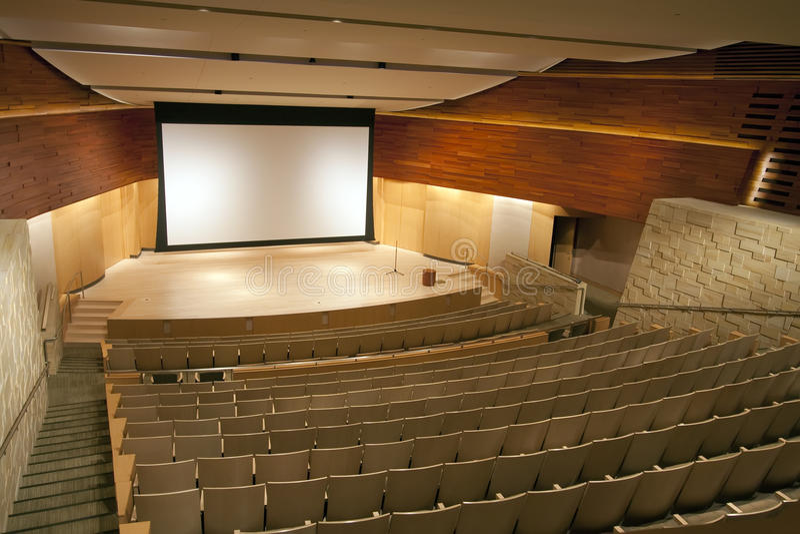 观众席现代剧院 库存图片