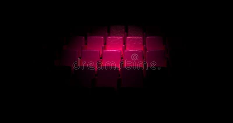 观众席空的剧院 库存例证