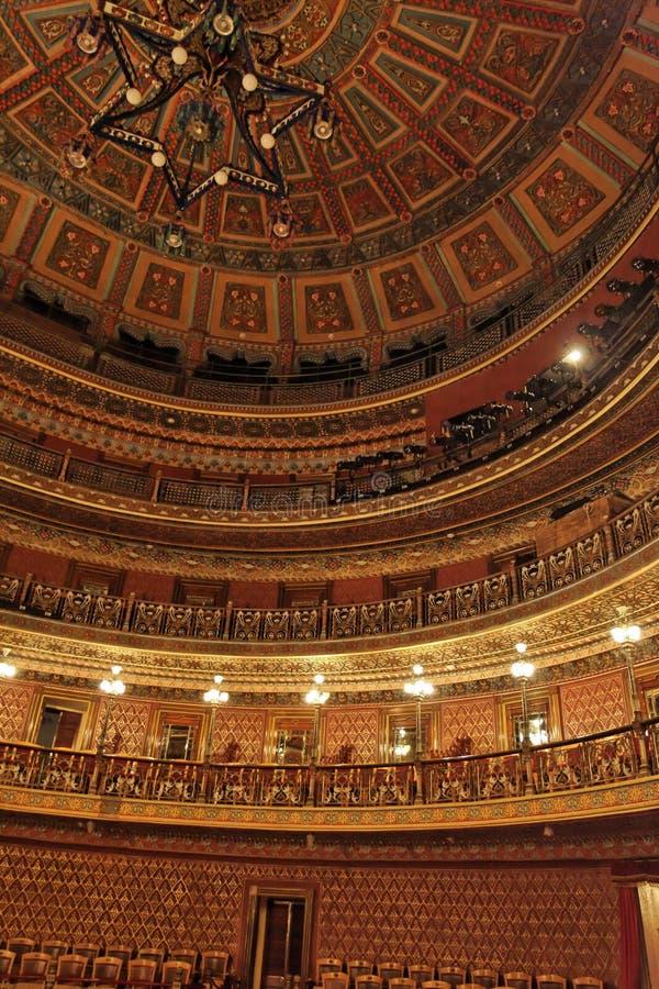 观众席guanajuato juarez teatro 库存照片