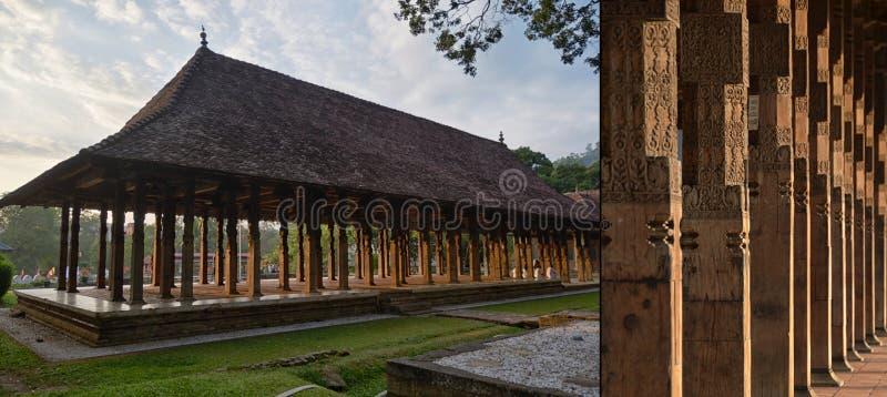 观众康提王宫,斯里兰卡霍尔  免版税库存图片