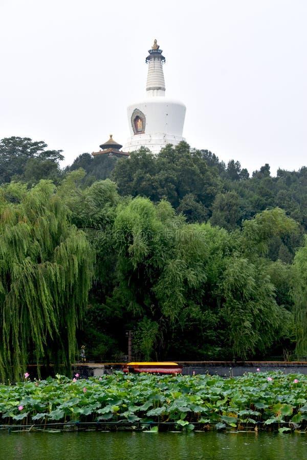 观光在北海公园,北京,中国 库存图片