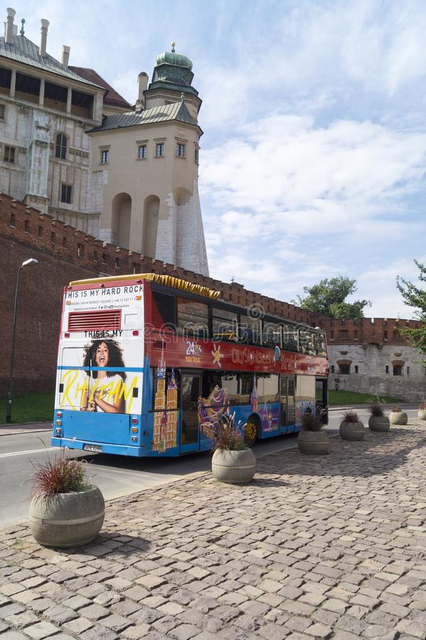 观光的城市,克拉科夫波兰 免版税图库摄影