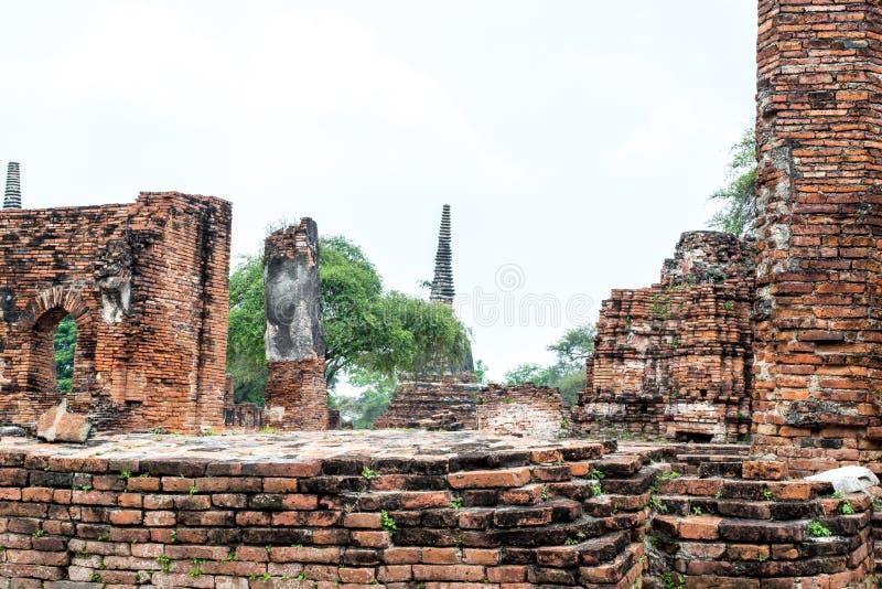 观光阿尤特拉利夫雷斯历史的公园,联合国科教文组织世界遗产名录中心,泰国 免版税库存照片