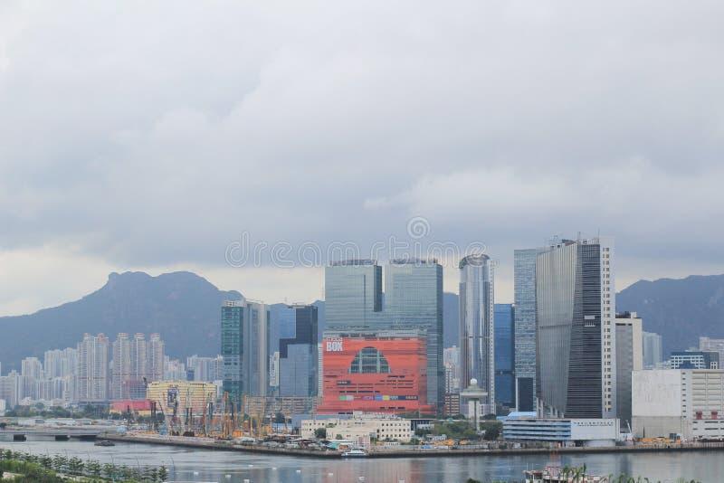 观塘台风避难所2014年5月17日 免版税库存照片