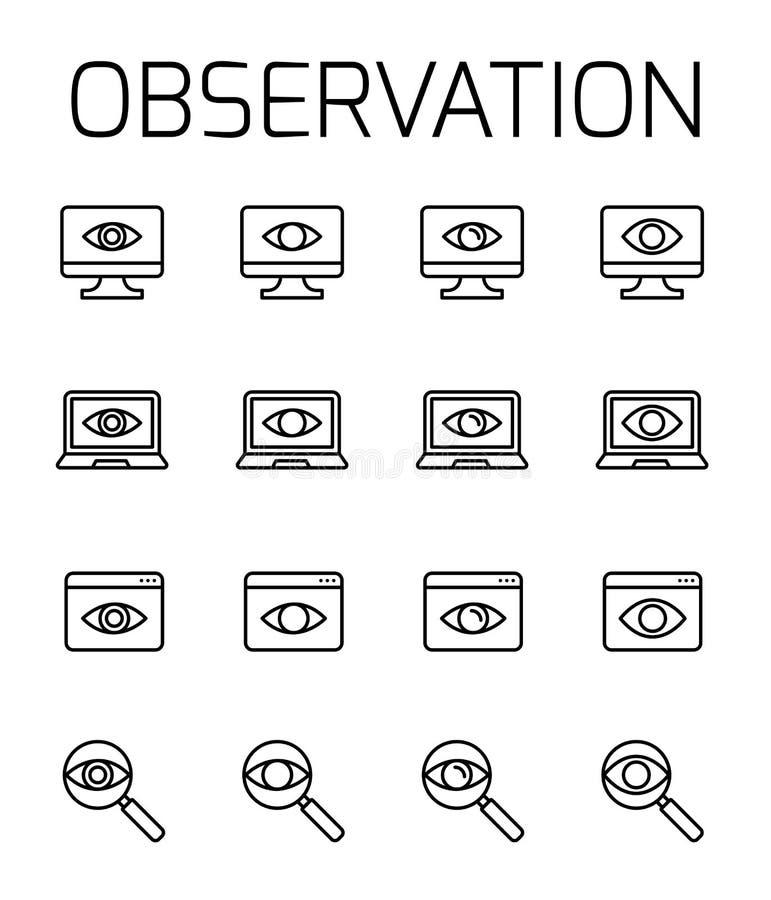 观察关系了传染媒介象集合 向量例证