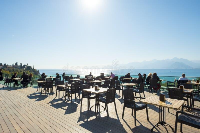 观察台观点海山安塔利亚 图库摄影