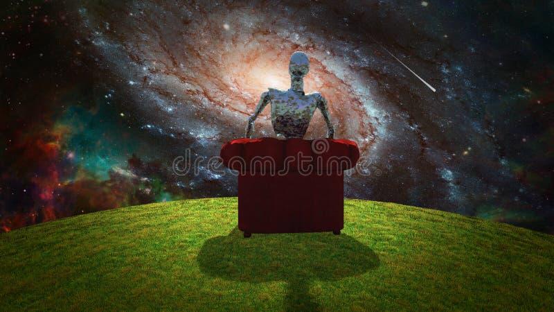 观察宇宙 库存例证