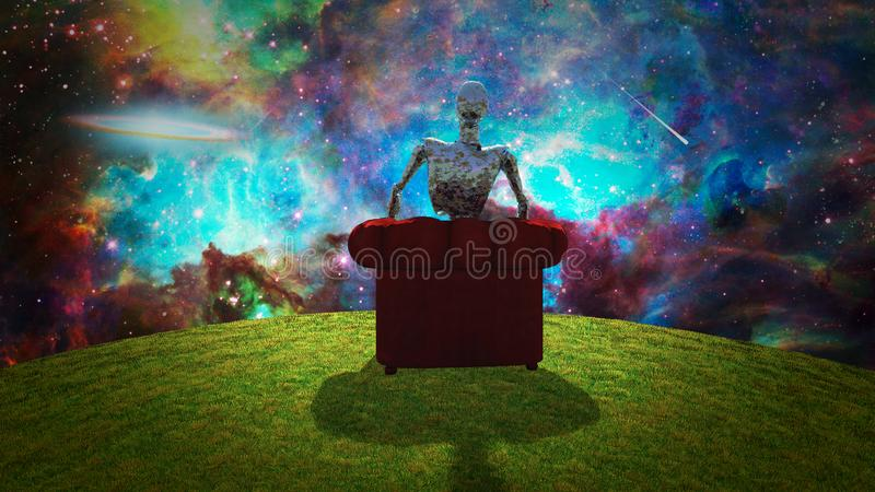 观察宇宙 皇族释放例证