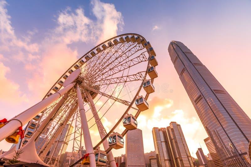 观察轮子香港 免版税库存图片