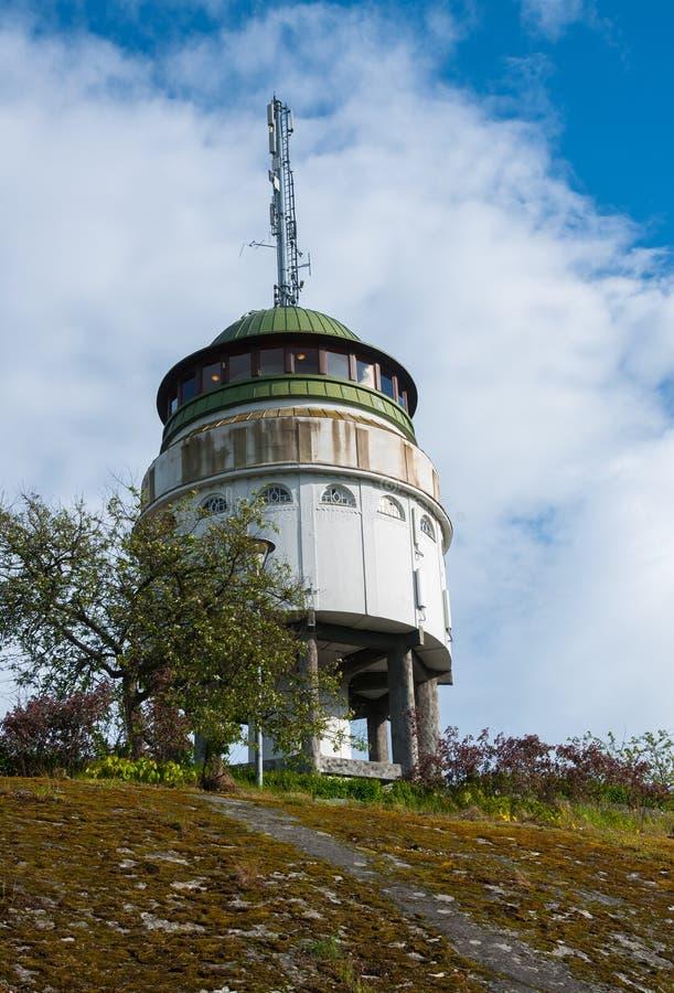 观测塔` Naisvuori ` Mikkeli,芬兰 免版税库存照片