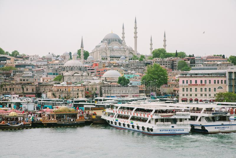 观点的伊斯坦布尔土耳其的亚洲边 库存图片