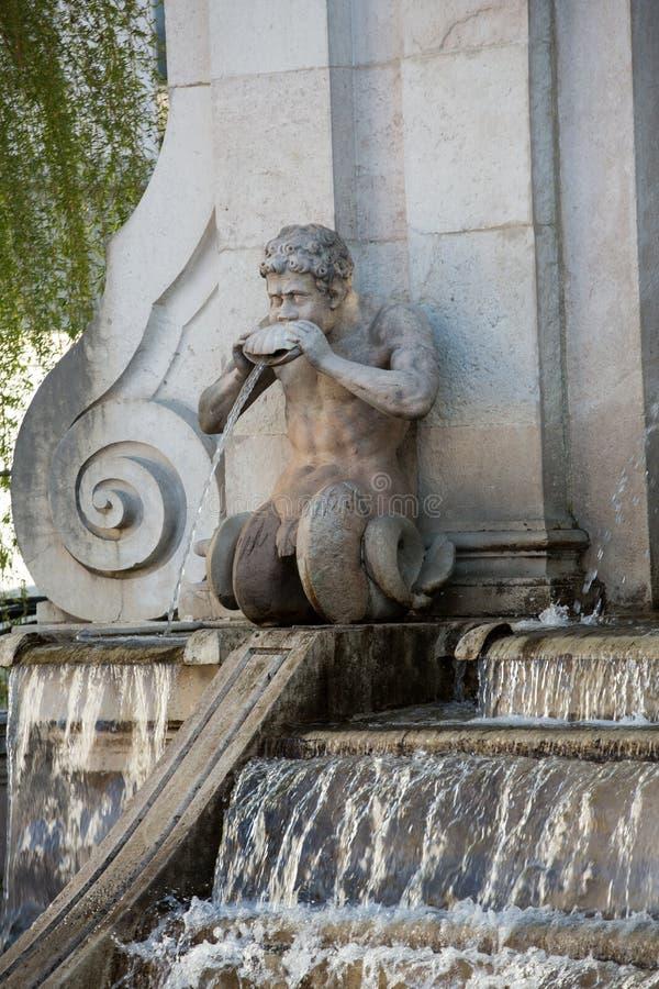 观点的很好老马在Kapitelplatz广场在萨尔茨堡, 库存照片