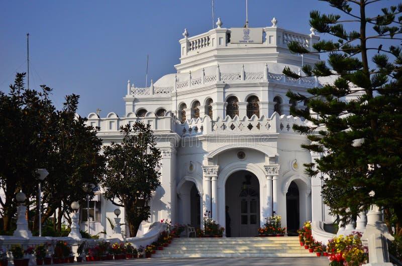 观点的拉杰Bhavan,阿加尔塔拉,特里普拉邦,印度 免版税图库摄影
