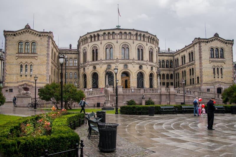 观点的挪威议会 免版税库存图片