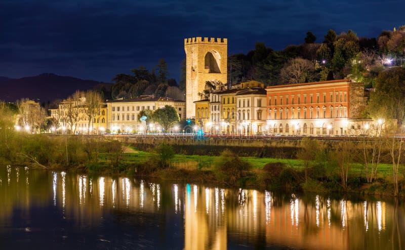 观点的波尔塔圣Niccolo在佛罗伦萨 库存图片