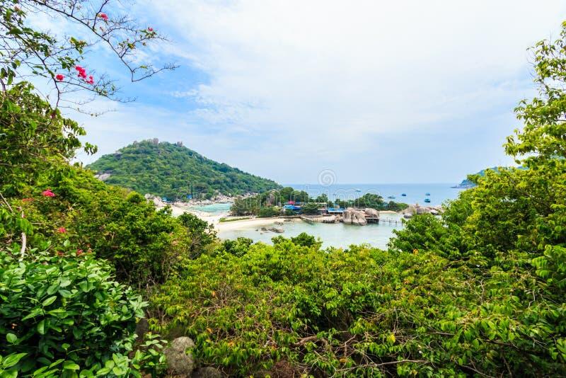 观点Nang元海岛在泰国 库存图片