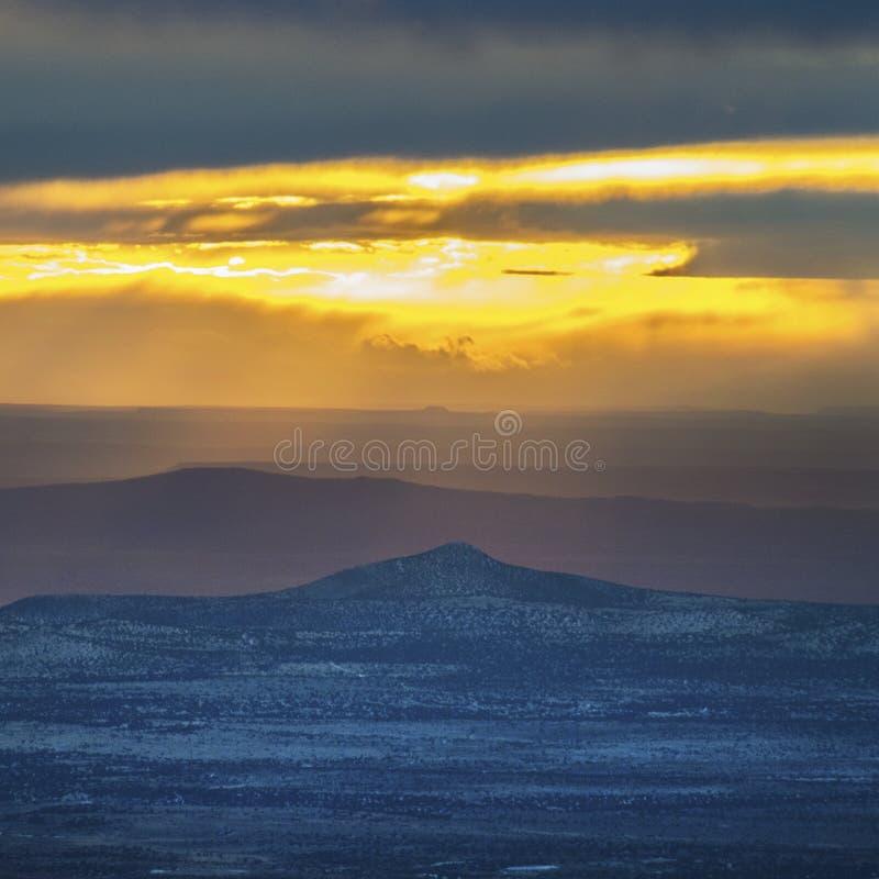 观看从Sangre de克里斯多山的日落 图库摄影