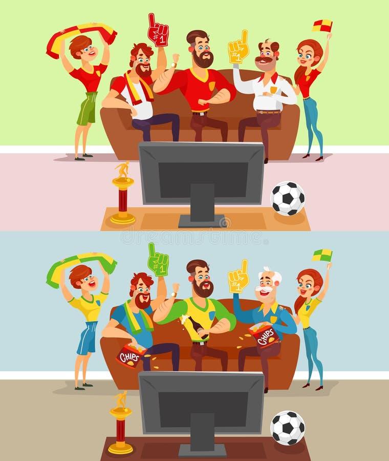 观看在电视的人一场足球比赛图片