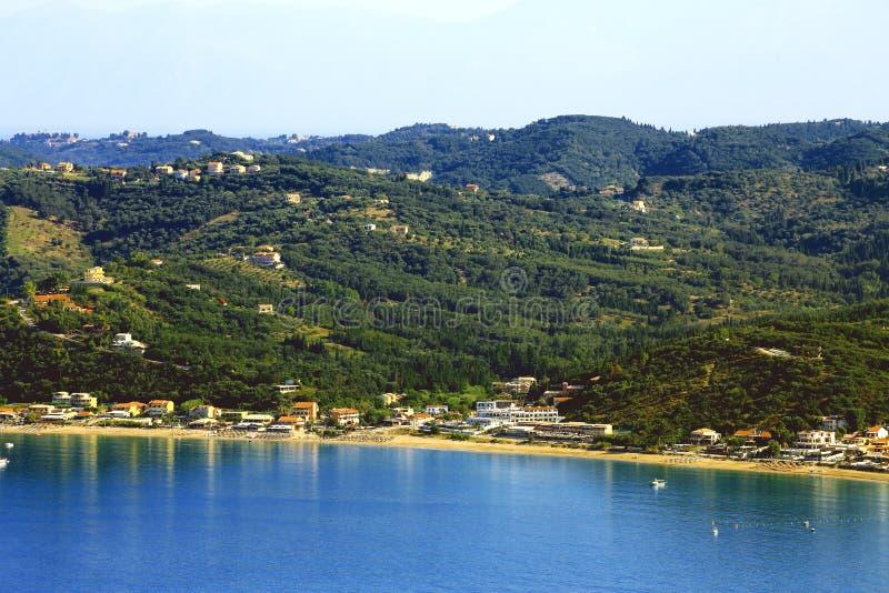 观看在贴水在科孚岛海岛上的乔治斯Pagon 库存图片