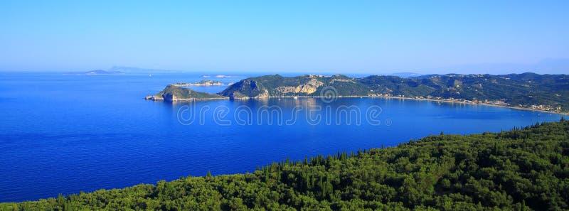 观看在贴水在科孚岛海岛上的乔治斯Pagon 库存照片