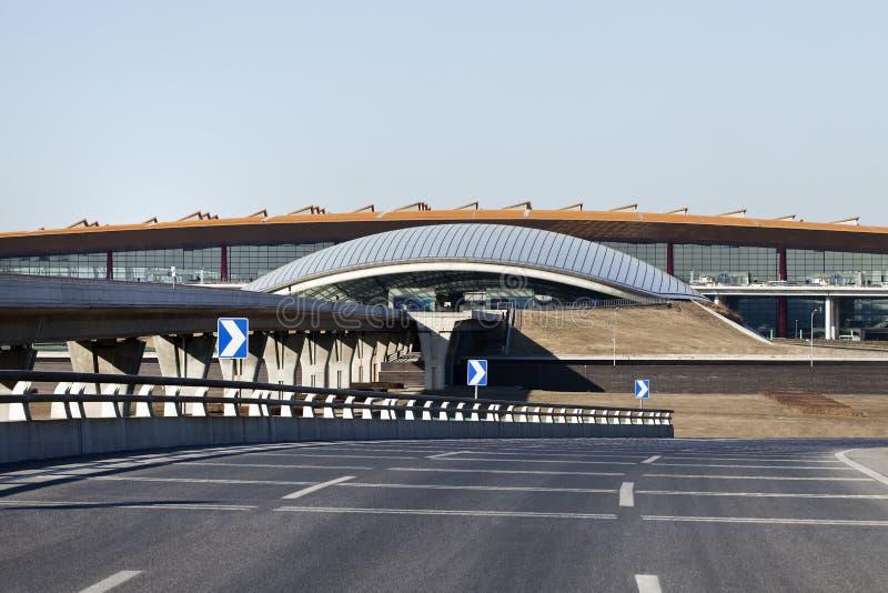 观看在终端3,北京资本国际Aiport 免版税图库摄影