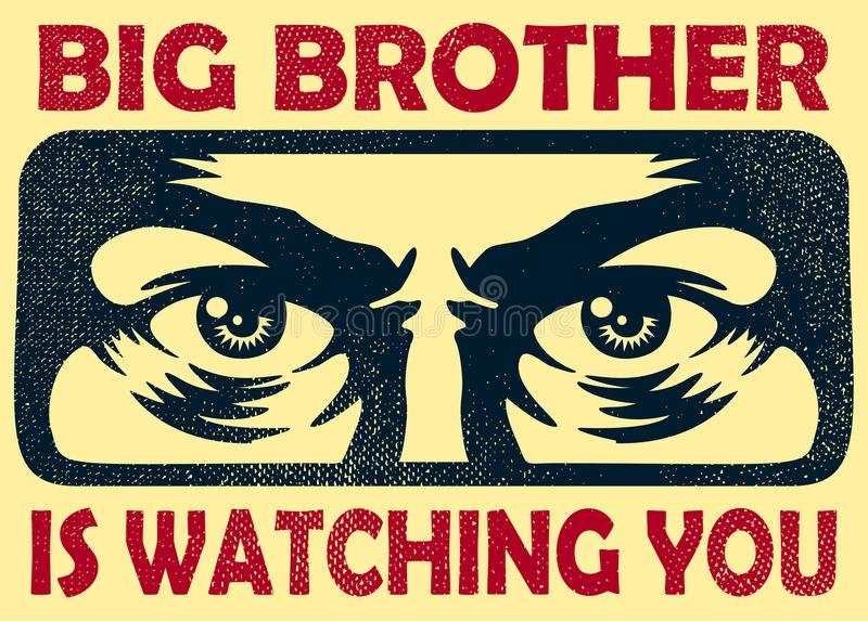 观看您的哥哥暗中侦察的眼睛、监视和保密性概念导航例证 库存例证