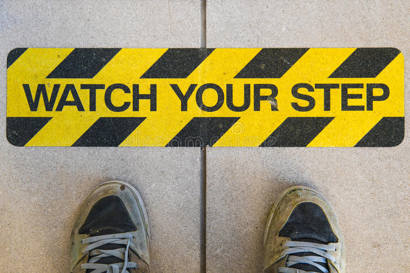 观看您的步建筑警报信号 图库摄影