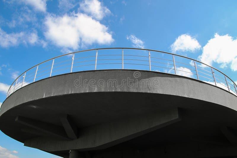 观看的平台阳台露天 库存图片