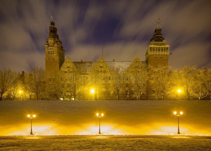 观看Haken Terrasein什切青,波兰的大阳台 库存图片