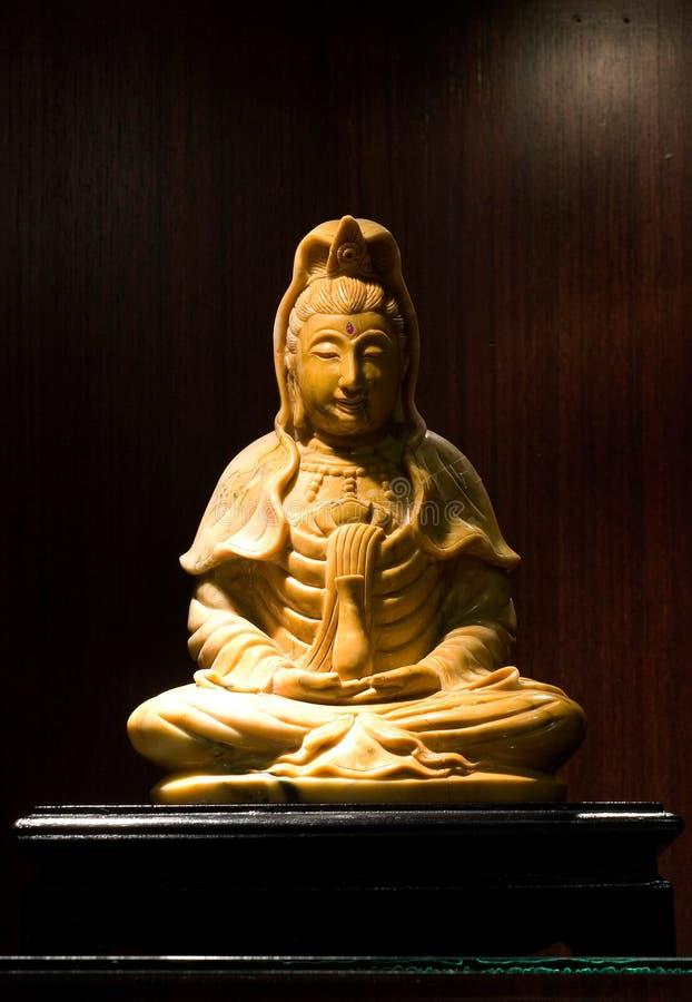 观音工业区玉雕塑,观音菩萨在中国 免版税库存图片
