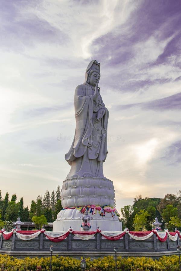 观音工业区菩萨雕象 库存图片