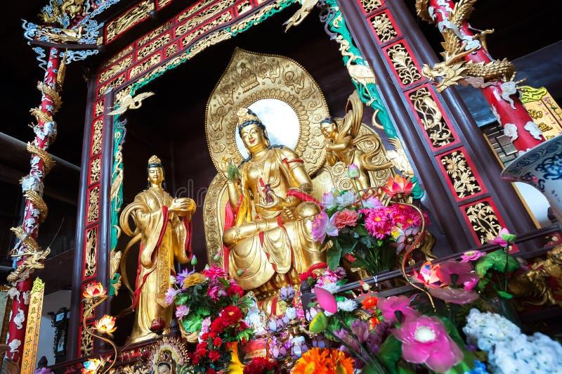 观音工业区雕象,观音菩萨,麓山寺的,长沙,中国 免版税库存照片