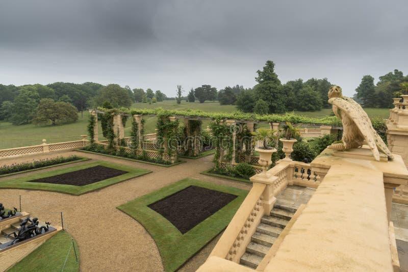 规则式园林在奥斯本议院 库存照片