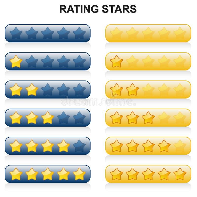 规定值担任主角- 0到5 -蓝色和黄色 向量例证