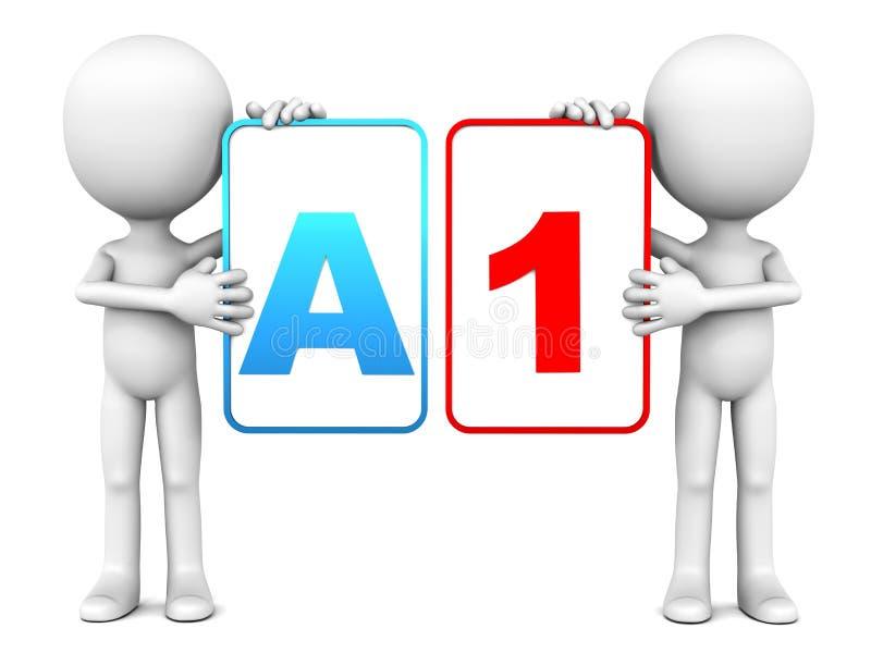 A1规定值 向量例证