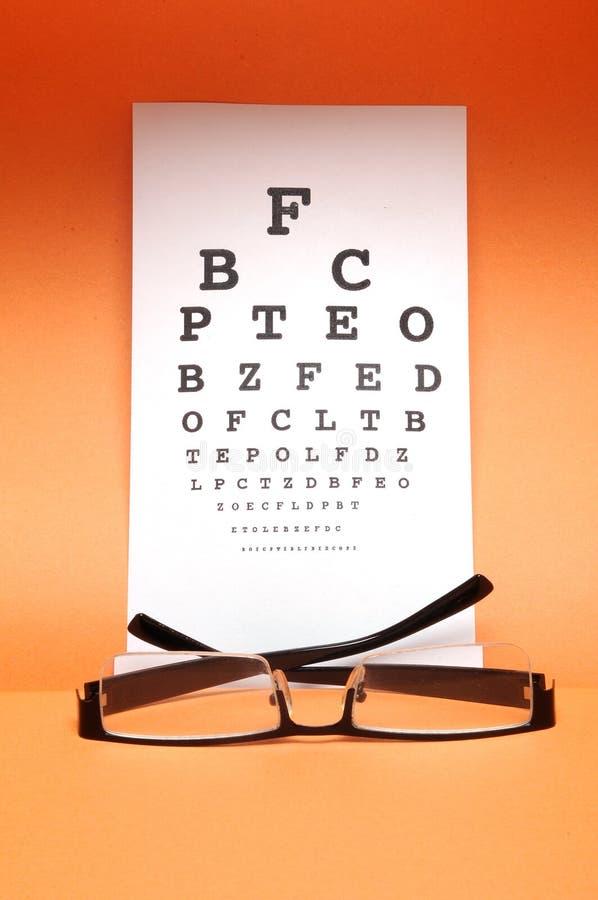 视力检查表测试 免版税库存图片