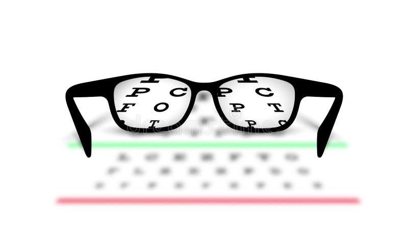 视力测定医疗背景玻璃有被弄脏的背景 库存照片