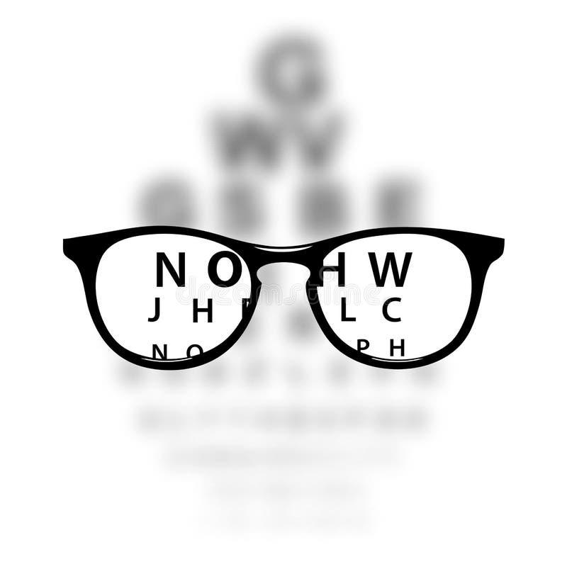 视力测定医疗背景 库存例证