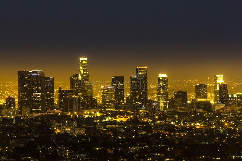 视图向街市洛杉矶 库存照片