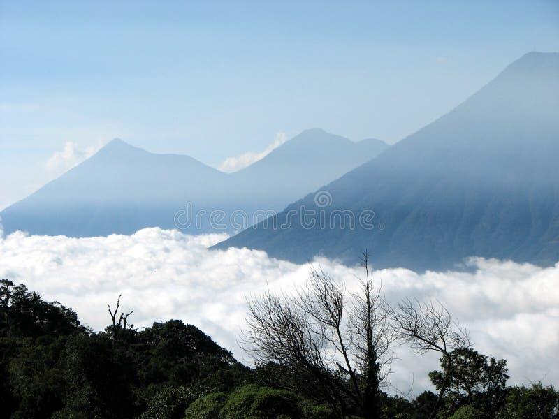 视图火山 库存照片
