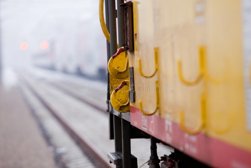 视图的接近的铁路车 免版税库存照片