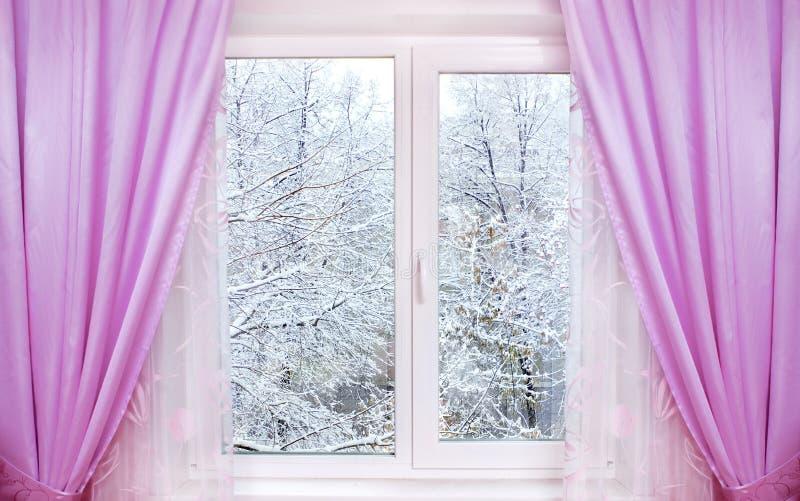 视窗冬天 免版税库存图片