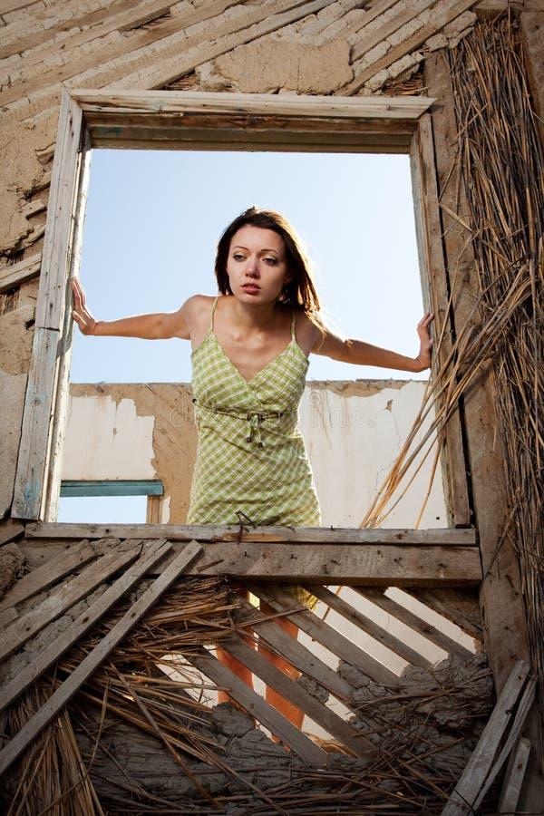 视窗妇女 免版税库存照片